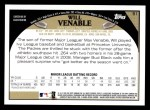 2009 Topps #51  Will Venable  Back Thumbnail