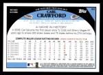 2009 Topps #40  Carl Crawford  Back Thumbnail