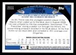 2009 Topps #58  Travis Snider  Back Thumbnail