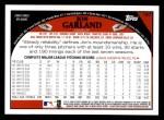 2009 Topps #187  Jon Garland  Back Thumbnail