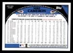 2009 Topps #162  Mike Cameron  Back Thumbnail