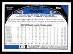 2009 Topps #151  Carl Pavano  Back Thumbnail