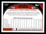 2009 Topps #126  Orlando Hudson  Back Thumbnail