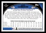 2009 Topps #145  Alex Gordon  Back Thumbnail