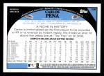 2009 Topps #156  Carlos Pena  Back Thumbnail