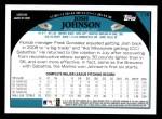 2009 Topps #118  Josh Johnson  Back Thumbnail