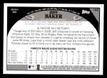 2009 Topps #166  Jeff Baker  Back Thumbnail