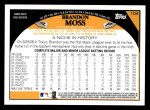 2009 Topps #104  Brandon Moss  Back Thumbnail