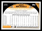 2009 Topps #183  Jason Michaels  Back Thumbnail