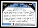 2009 Topps #216  Joe Maddon  Back Thumbnail