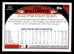 2009 Topps #266  Todd Wellemeyer  Back Thumbnail