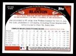 2009 Topps #207  Joe Blanton  Back Thumbnail