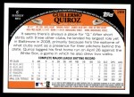 2009 Topps #288  Guillermo Quiroz  Back Thumbnail