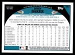 2009 Topps #283  John Baker  Back Thumbnail