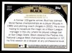 2009 Topps #297  Bud Black  Back Thumbnail