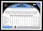 2009 Topps #296  Reid Brignac  Back Thumbnail