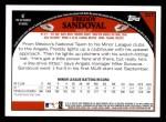 2009 Topps #227  Freddy Sandoval  Back Thumbnail