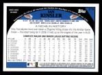 2009 Topps #215  Ian Kinsler  Back Thumbnail