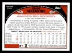 2009 Topps #270  Grady Sizemore  Back Thumbnail