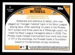 2009 Topps #234  John Russell  Back Thumbnail