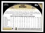 2009 Topps #289  Josh Banks  Back Thumbnail