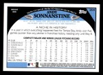 2009 Topps #204  Andy Sonnanstine  Back Thumbnail
