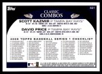 2009 Topps #321   -  Scott Kazmir / David Price Ray Guns Back Thumbnail