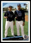 2009 Topps #321   -  Scott Kazmir / David Price Ray Guns Front Thumbnail