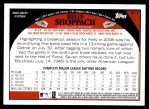 2009 Topps #311  Kelly Shoppach  Back Thumbnail