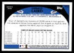 2009 Topps #342  Gerald Laird  Back Thumbnail