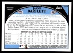2009 Topps #347  Jason Bartlett  Back Thumbnail