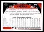 2009 Topps #313  Jamey Carroll  Back Thumbnail