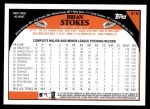 2009 Topps #316  Brian Stokes  Back Thumbnail