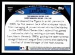 2009 Topps #339  Jim Leyland  Back Thumbnail