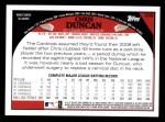 2009 Topps #308  Chris Duncan  Back Thumbnail