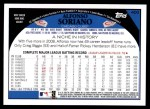 2009 Topps #400  Alfonso Soriano  Back Thumbnail