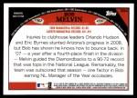 2009 Topps #384  Bob Melvin  Back Thumbnail