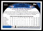 2009 Topps #412  Taylor Teagarden  Back Thumbnail
