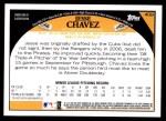2009 Topps #409  Jesse Chavez  Back Thumbnail