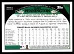 2009 Topps #442  Cliff Pennington  Back Thumbnail