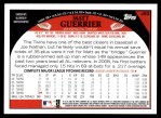 2009 Topps #489  Matt Guerrier  Back Thumbnail