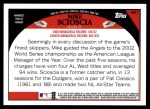 2009 Topps #461  Mike Scioscia  Back Thumbnail