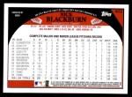 2009 Topps #402  Nick Blackburn  Back Thumbnail
