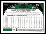 2009 Topps #495  Eric Chavez  Back Thumbnail