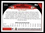 2009 Topps #416  Josh Whitesell  Back Thumbnail