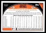 2009 Topps #423  Melvin Mora  Back Thumbnail
