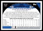 2009 Topps #490  Joba Chamberlain  Back Thumbnail