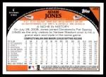 2009 Topps #455  Adam Jones  Back Thumbnail