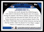 2009 Topps #584  Ron Washington  Back Thumbnail