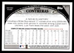 2009 Topps #577  Jose Contreras  Back Thumbnail